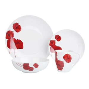 Wild Poppy 16 Piece Dinner Set