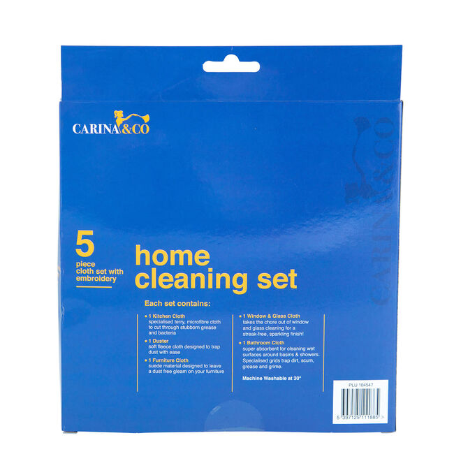 Carina & Co Home Cleaning Microfibre Cloths Set