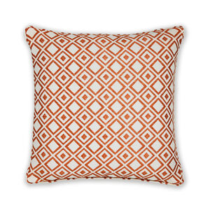 Diamond Jacquard Terra Cushion 45cm x 45cm