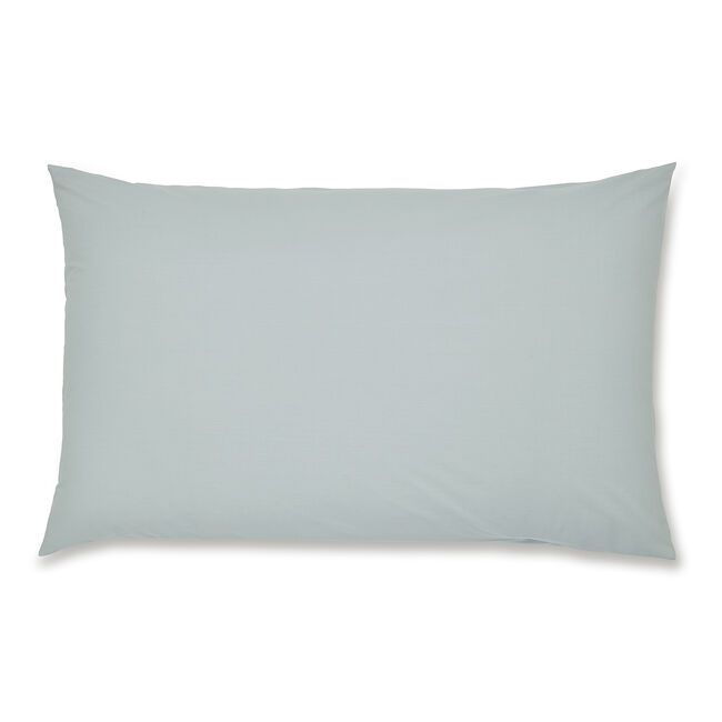 Luxury Percale Housewife Pillowcase Pair - Duck Egg
