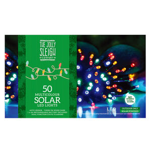 50 Multicolour LED Solar Lights