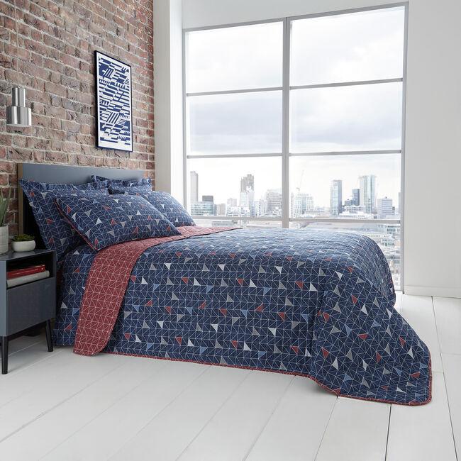 Evan Bedspread 200x220cm - Navy