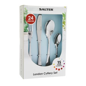 Salter Elegance London 24 Piece Cutlery Set