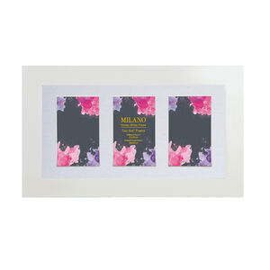 Milano Glossy White Photo Frame Trio 4x6""
