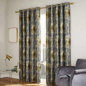 MENLOE FLORAL DUCK EGG 66x54 Curtain