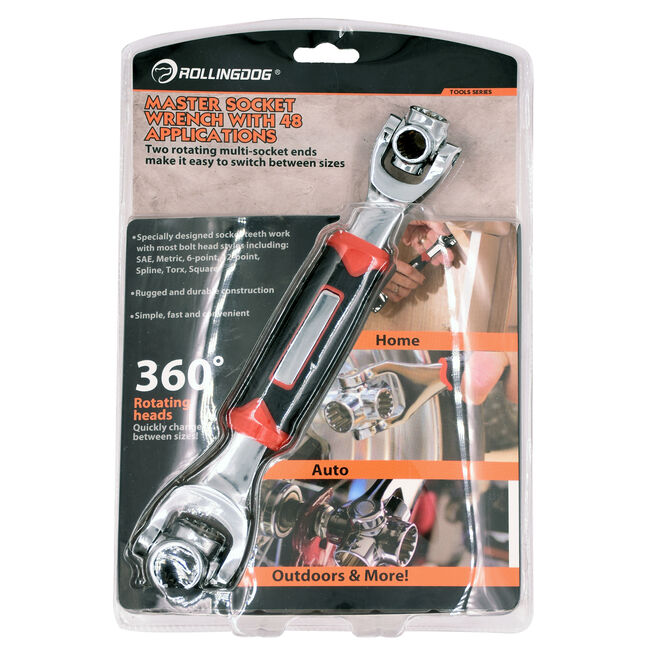 Rolling Dog 48 in 1 Socket Wrench