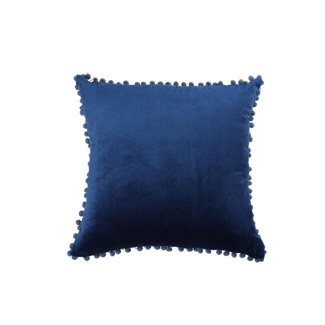 Pom Pom Cushion 45x45cm - Navy