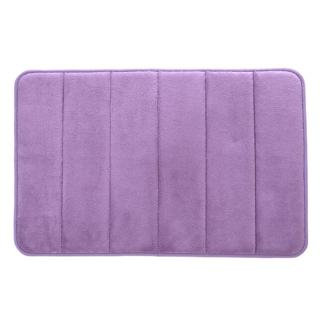 Memory Foam Bath Mat 40x60cm - Heather