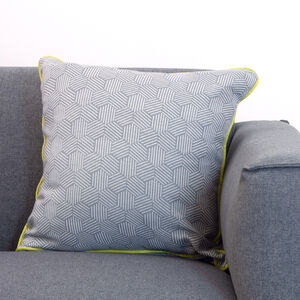 Neon Cushion 58x58cm -Steel