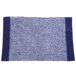 Yarn Dyed Stripe Bath Mat 50x80cm - Navy