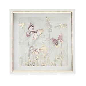 Butterflies Print Framed 33X33cm