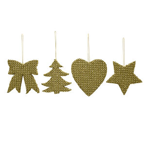 Gold Diamante Christmas Decoration