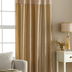 Embroidered Gold Taffeta Curtain