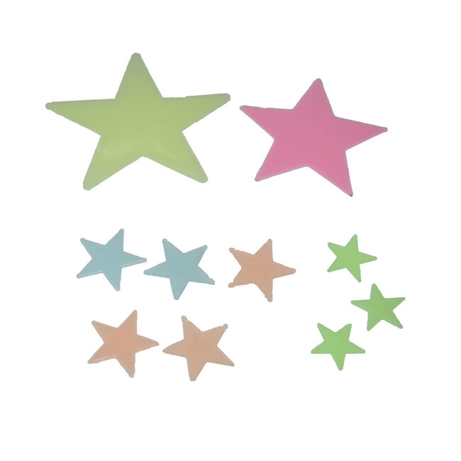 Glow In The Dark Star Stick-Ons