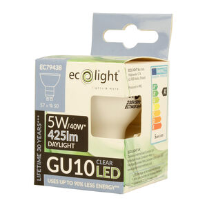 Eco Light 5W Cool Glow Bulb (GU10)