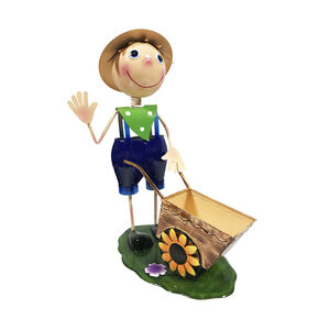 Dancing Boy with Wheelbarrow Planter