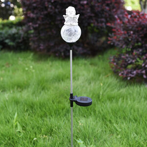 Angel on Crackle Ball Solar Stake light