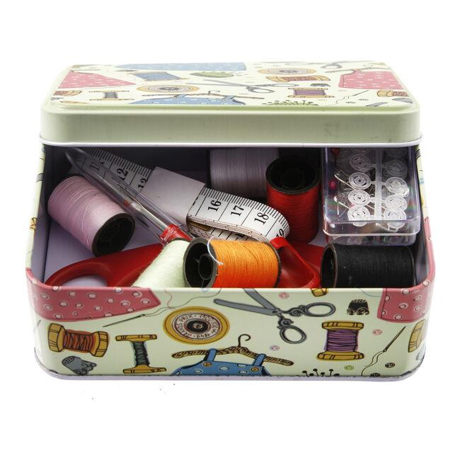 Pins N Needles Sewing Tin Box