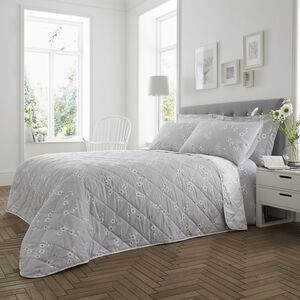 Blossom Bedspread 200x220cm - Grey