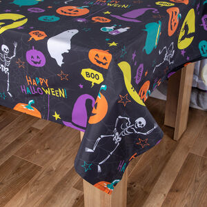 Pumpkins and Potions PVC Table Cloth