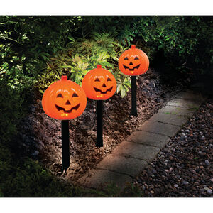 Set of 3 Pumpkin Path Markers