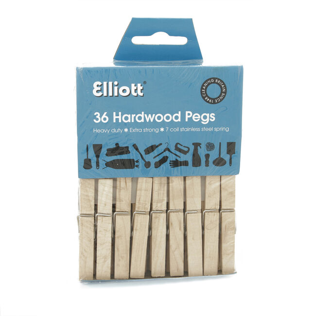Hard Wood Clothes Pegs 36 Pack