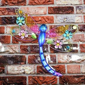 Glass Dragonfly Garden Wall Art