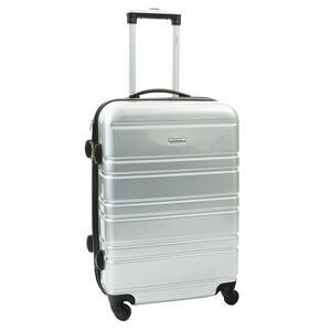 Medium Silver Hardshell Suitcase