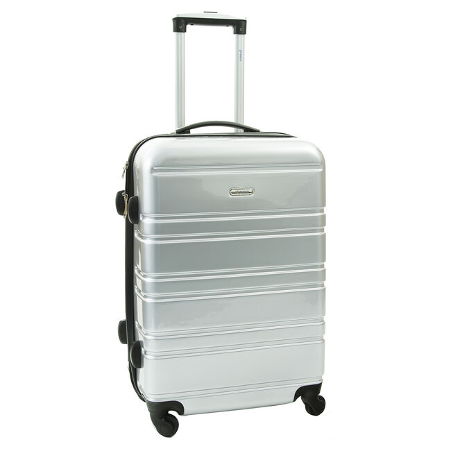 Medium Silver Hardshell Suitcase