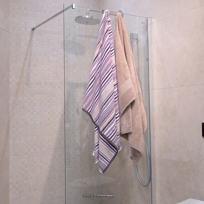 500GSM MCMARTIN STRIPE GREY/NAT Bath Sheet