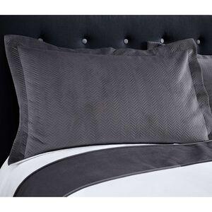 Ribeiro Velvet Pillowshams Grey 50 x 75cm