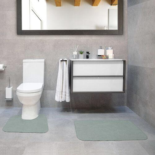 Cotton Plain Dye Duck Egg Bathroom Set