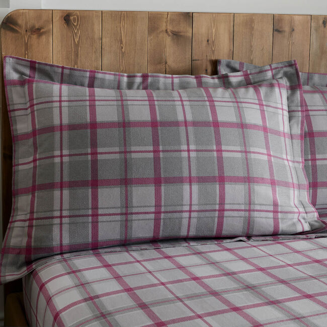 Brushed Cotton O'Leary Check Oxford Pillowcases