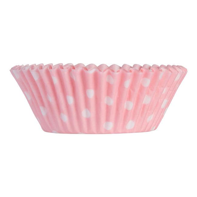 Mason Cash 40 Pink Polka Dot Mini Cupcake Cases