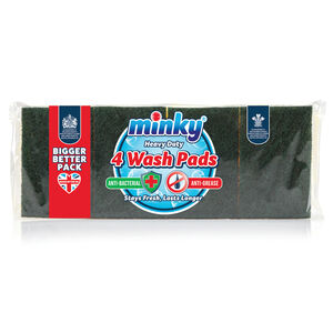 Minky Heavy Duty Wash Pads 4 Pack