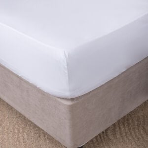 SINGLE FITTED SHEET 300 Threadcount Cotton White