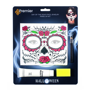 Halloween Day Of The Dead Tattoo Makeup Set