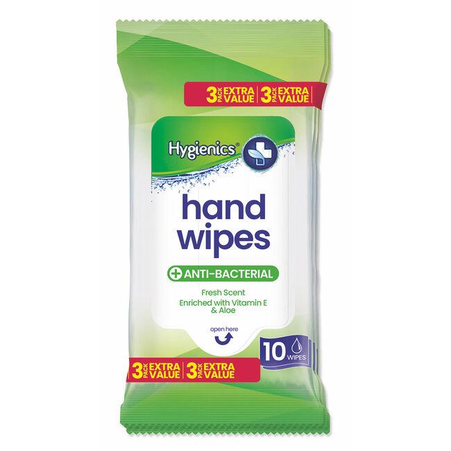 Hygenics Hand Wipes 30 Pack