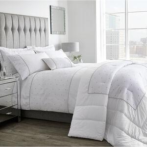 Polka Waffle White & Grey Cushion 30x50cm