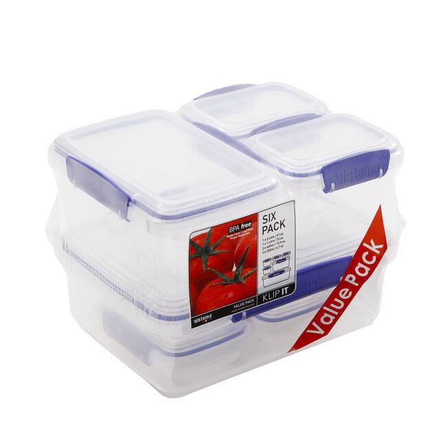 Klip It Airtight Tubs 6 Pack