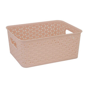 Geometric 4L Blush Basket