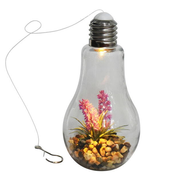 Lavender Decorative Glass Bulb Light