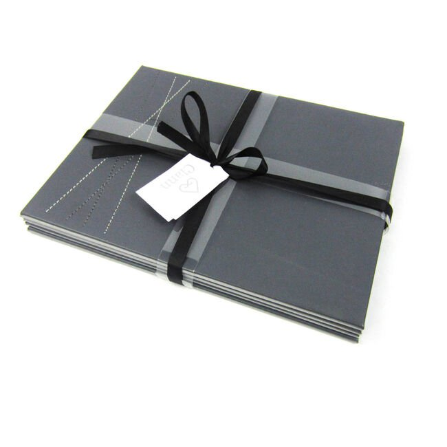 Reversible Leather Grey Diamond Placemats 4 Pack