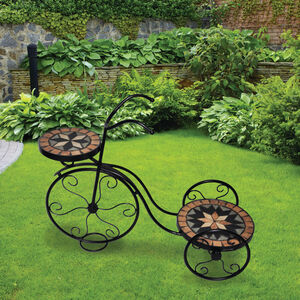 Mosaic Garden Bicycle Plant Stand