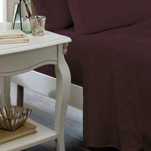 SINGLE FLAT SHEET Luxury Percale Plum