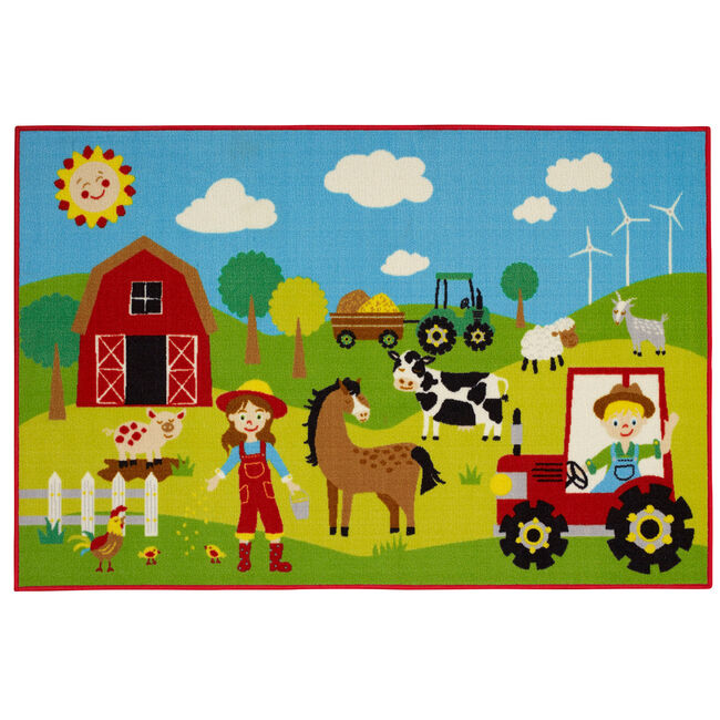 Farmer and Friends Childrens Floormat 100x150cm