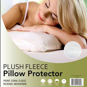 Plush Fleece Pillow Protector