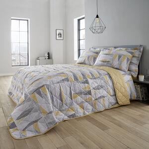 Ted Bedspread 200x220cm - Grey/Ochre