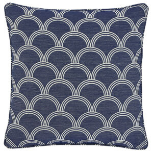 Geo Jacquard  Cushion 45x45cm - Blue
