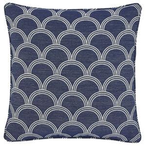 Geo Jacquard Blue 45x45 Cushion